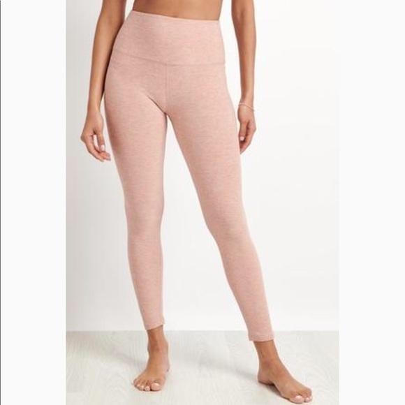 37a0aa7d0c37e8 Beyond Yoga Pants | Nwt Midi High Waist Legging Pink Shell | Poshmark
